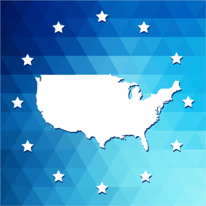 usa icon with stars