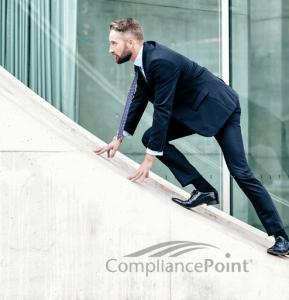 man climbing structure