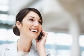 lady smiling on phone