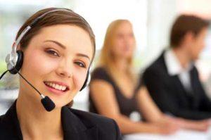 telemarketer smiling