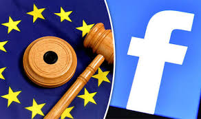 gavel and facebook logo
