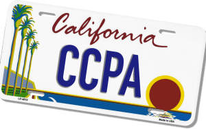 licence plate with CCPA on it