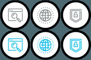 circle button icons